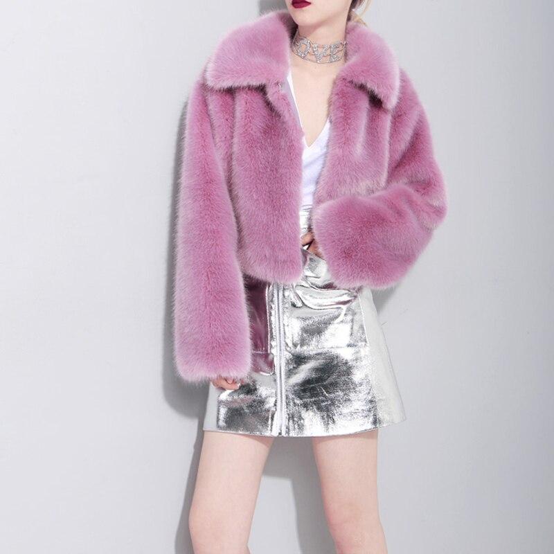 eam Tempérament Veste Violet Mode Longues Purple Manteau Jk412 2019 Manches Revers Marée De Fourrure Chaud Nouveau Printemps Femmes Lâche rwSprxq07