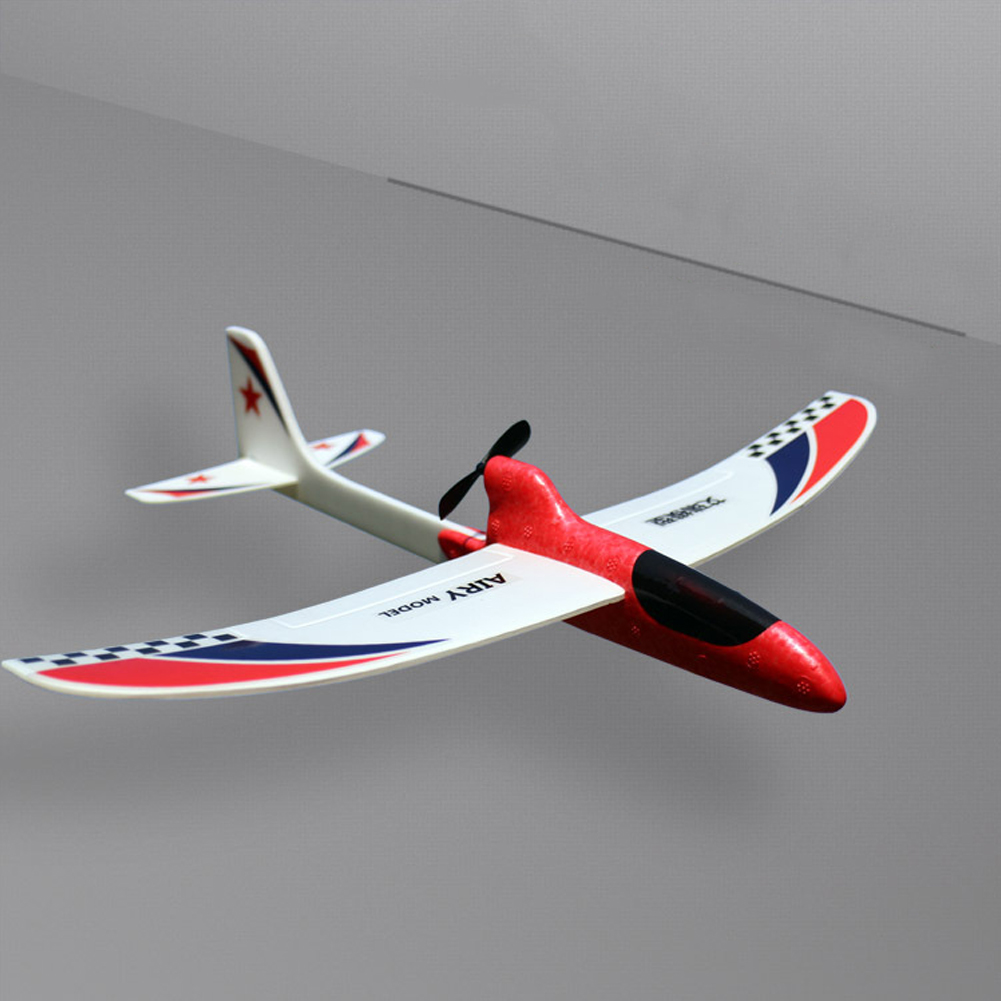 Toy Children Streamline Gift Capacitor Hand Throwing Electric Educational Model Funny DIY Glider Foam RC Airplane(China)