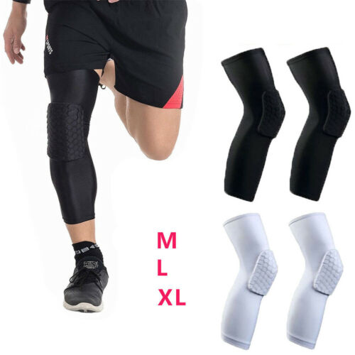 Honeycomb Pad Basketball Knee Crashproof Leg Outdoor Sports Protector Support Brace