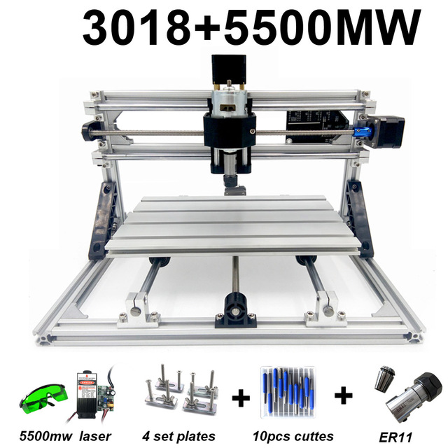 New Mini CNC Engraving Machines 3018 with Laser Head Wood Router PCB Milling Machine Wood Carving Machine DIY Mini CNC with GRBL