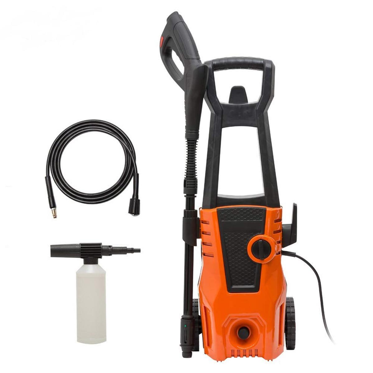 High Pressure Cleaner Spray Turbo Water Hose Car Washer Auto Care Spray Gun Detergent Bottle Car Self-washing Machine 1400w New