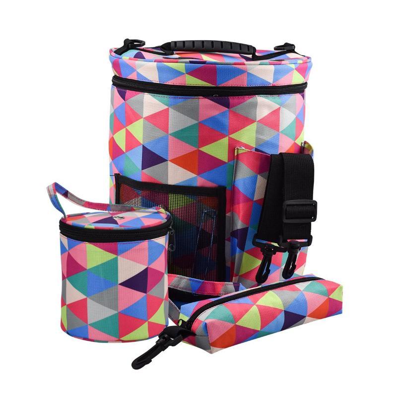 3pcs/set Portable Knitting Yarn Crochet Bag Holder Tote Organizer Storage Bag for Wool Crochet Tool Large Bucket Bag Set