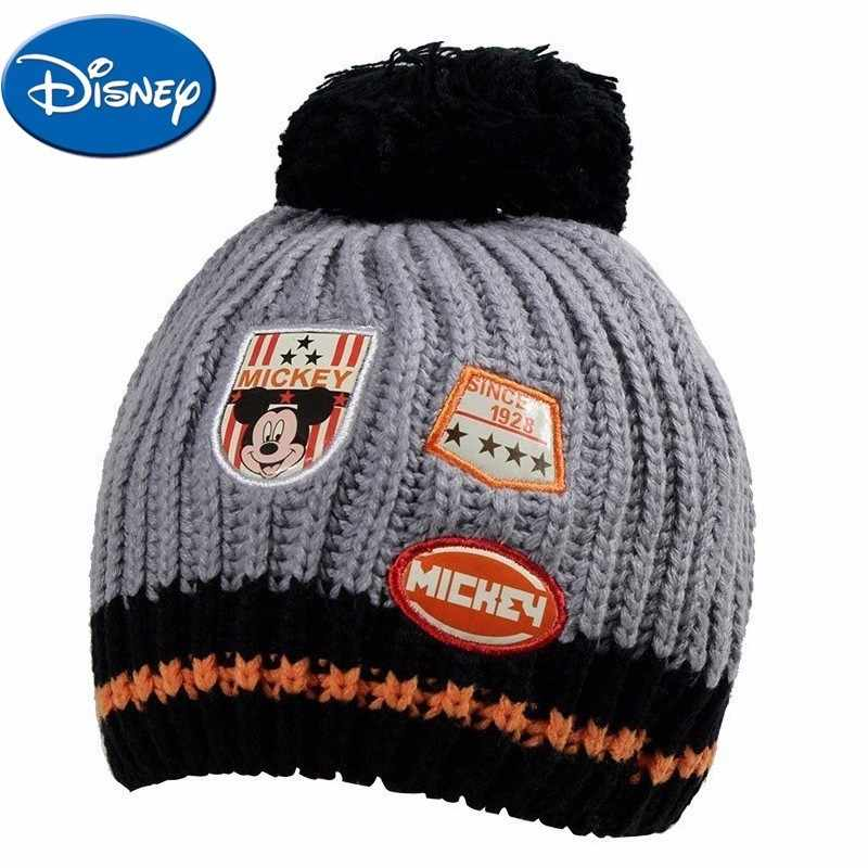 Detail Feedback Questions about Disney Baby Hat Mickey Mouse Cap Cartoon  Boy Cap With Hair Ball Decoration Warm Winter Hat For Children Kids Outdoor  Wear on ... fb4b236cf24