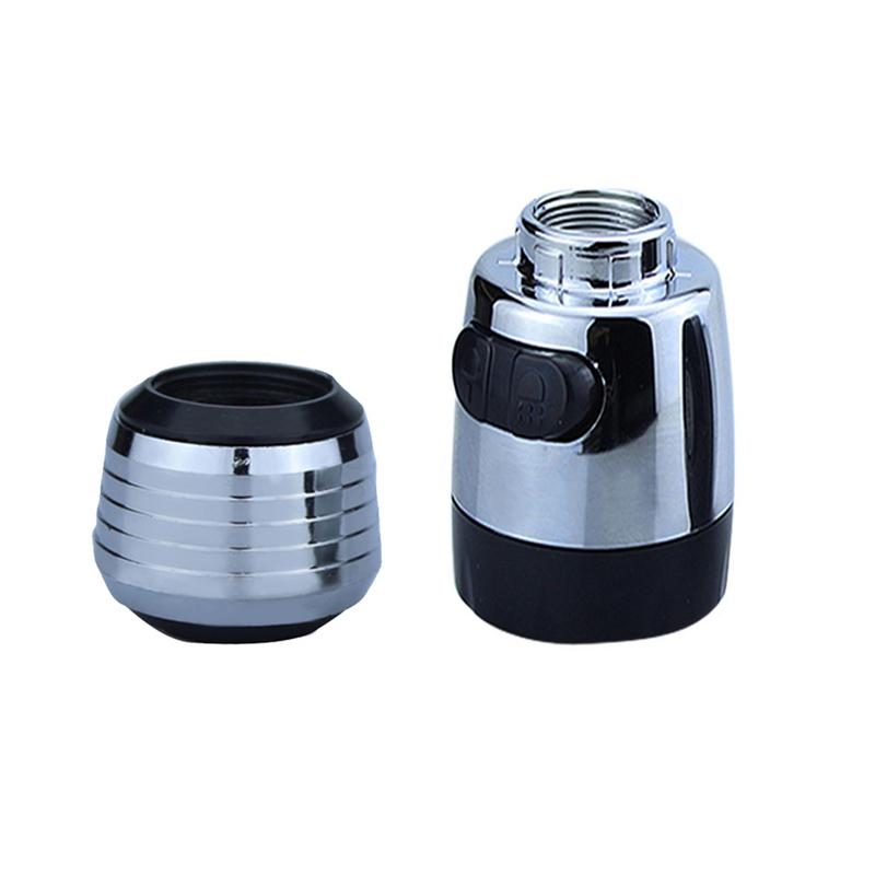 Kitchen Faucet Aerator 2 Modes Tap Water Saving Nozzle Bathroom Water Saving Faucet Filter Bubble Swivel Head Tap Spray Adapter