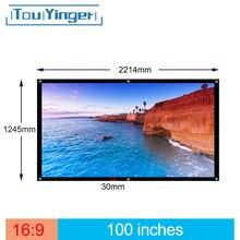 Touyinger 100 Pollici 16:9 Outdoor Semplice Schermo Portatile Da Viaggio Anteriore e Posteriore schermo di proiezione di Notte Super sottile schermo di proiezione