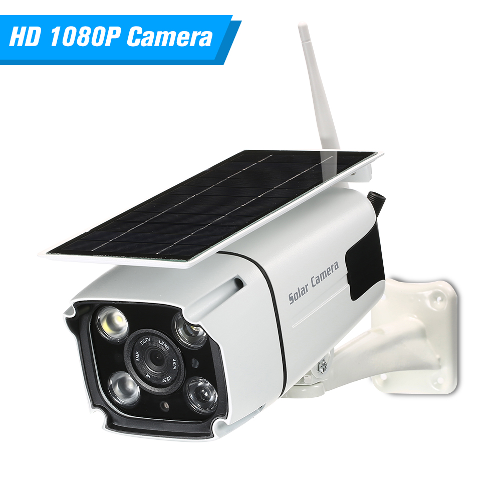 WIFI Wireless Waterproof Outdoor 1080P 2 0MP Solar Battery Power Low Power Consumption PIR Surveillance Security