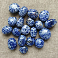 Natural large pieces of sodalite gravel original stone small play blue ore ornaments hand piece crystal specimen