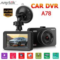 Anytek A78 Mini Car DVR Camera Full HD 1080P DVRs 170 Wide Angle Auto Digital Video Recorder Camcorder ADAS G sensor Dash Cam
