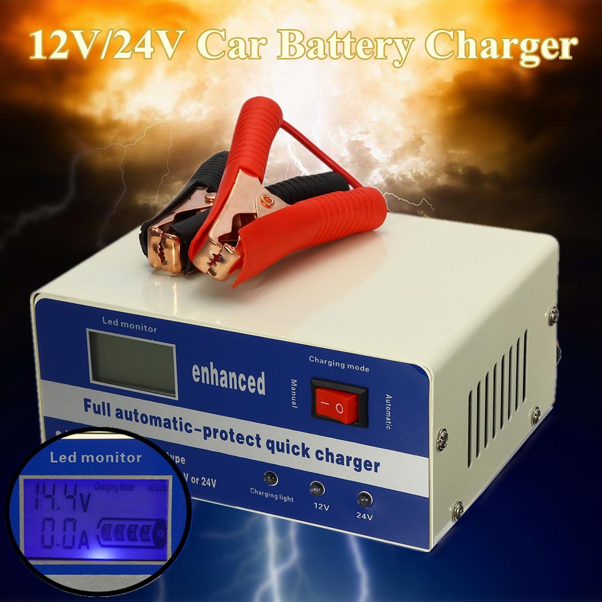 Impulsion intelligente 200AH de chargeur de batterie au plomb de voiture automatique électrique de 110 V/220 V 12 V/24 V pour 120AH Batteries au plomb 180 W 2 Modes