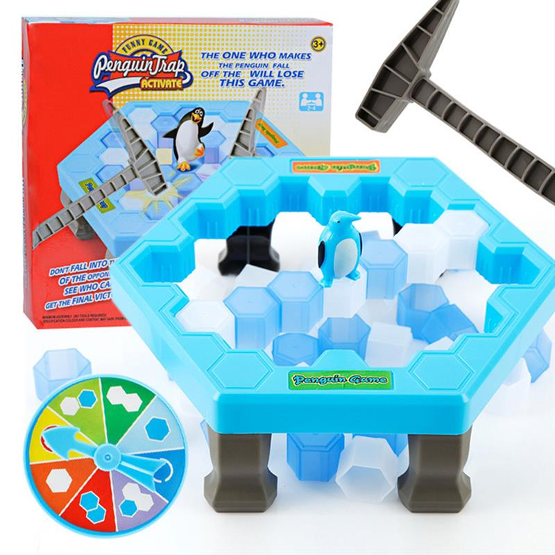Large Size Penguin Trap Crush Ice Puzzle Fun Table Game Balance Ice Cubes Save Penguin Icebreaker Beating Interactive Game Gifts