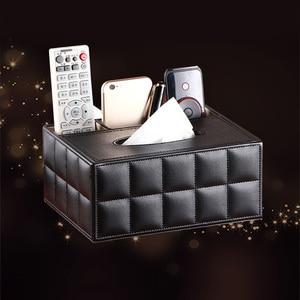 Image 3 - Многофункциональный настольный органайзер, держатель для пульта дистанционного управления, контейнер для карандашей, коробка для хранения салфеток из искусственной кожи