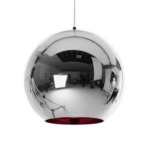 Image 4 - Coquimbo küre kolye ışıkları bakır cam ayna topu asılı lamba mutfak Modern aydınlatma armatürleri asılı ışık