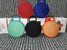 Ostart Wireless Bluetooth Speaker Circular Fabric Portable Hook Subwoofer Boom Box Handfree Call Music Stereo Audio Speakers