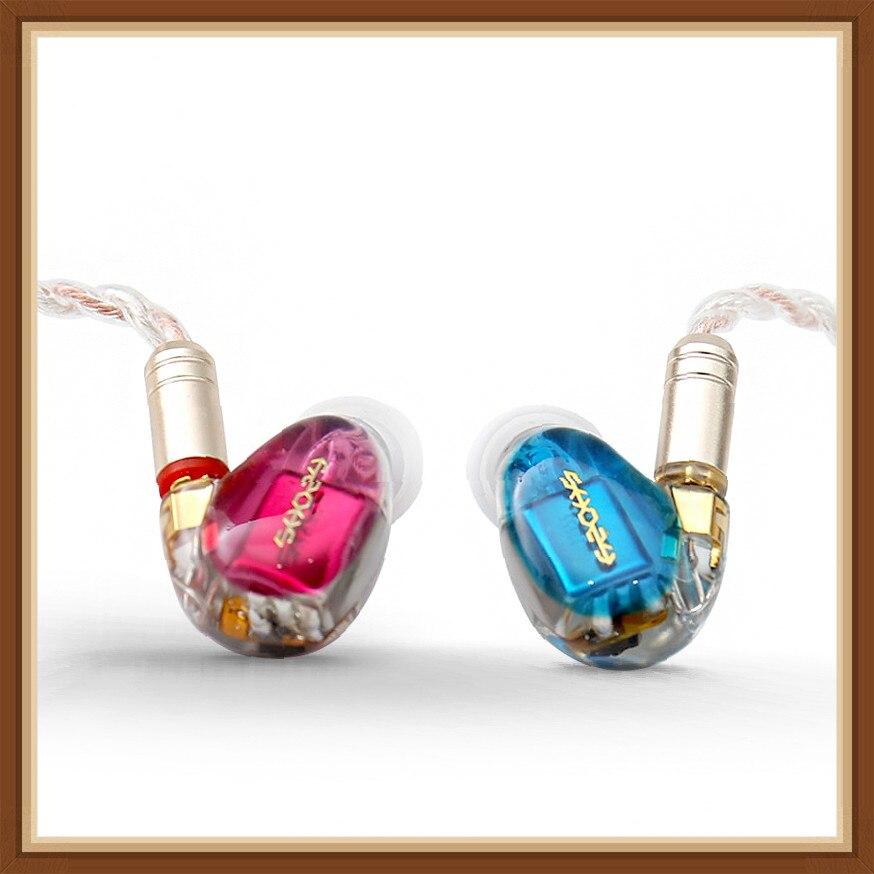 SHOZY NEO CP RED BLUE 3BA Triple Driver Hybrid HIFI IN Ear Earphone with MMCX Detachable