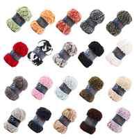 20 Colors Soft Long Hair Mink Yarn Faux Fur Mohair Wool Cashmere Yarn For DIY Hand Knitting Crochet Sweater Thread Baby Yarn