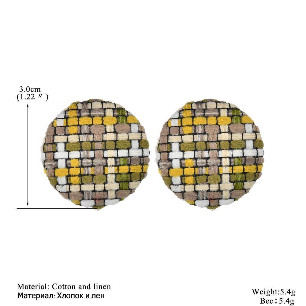 2019 Donne Calde di Vendita Geometrica Della Boemia Hollow Cerchio Ciondola Gli Rattan Paglia Intrecciata Orecchini con perno Decorazione Calda Dei Monili Delle Donne