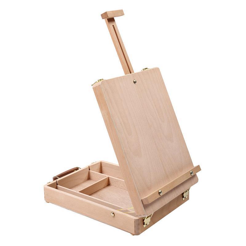 Réglable Table Chevalet Sketchbox Chevalet Bureau Artiste Chevalet En Bois Portable Compact Stand Pour Étudiant Dessin Peinture