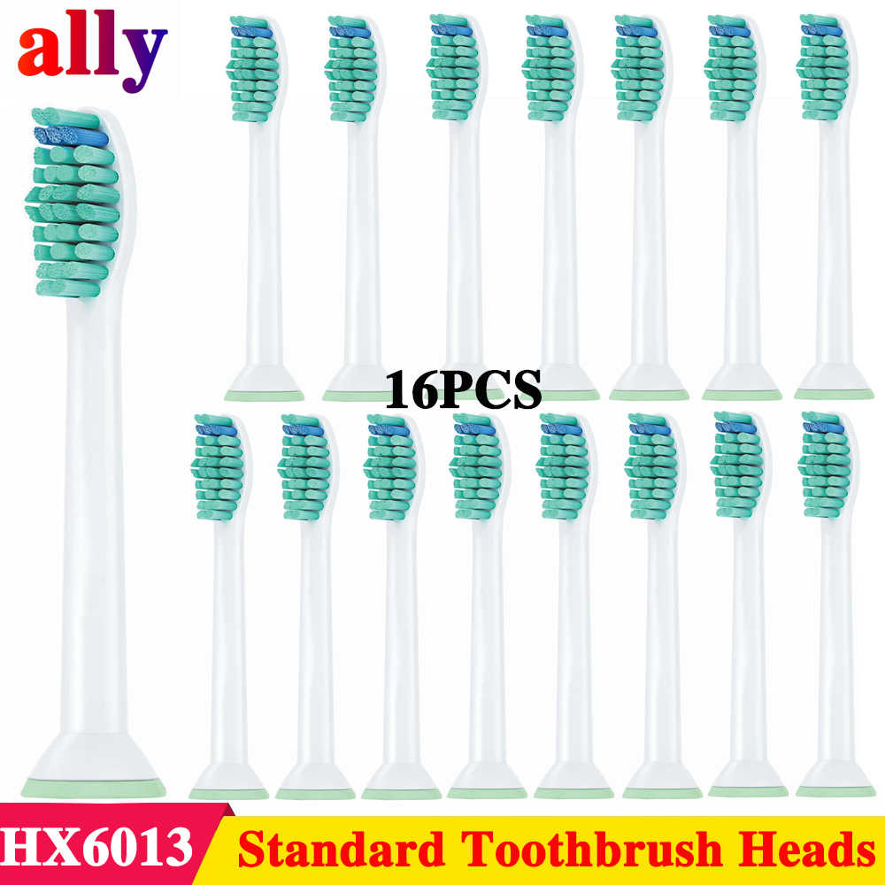 16X сменные насадки для Philips на зубные щетки Sonicare ProResults HX6013 DiamondClean Flexcare HealthyWhite