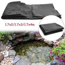 HDPE подводка для рыбного пруда Садовый пруд Ландшафтный Бассейн Резиновый толстый сверхмощный Водонепроницаемый мембранный материал для подкладки 1,7x4 м/1,7x3 м/1,7x2 м