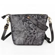 women Pure handmade leather handbags mini small square bag leather retro Vegetable Tan small bag of shoulder bag Messenger bag недорого