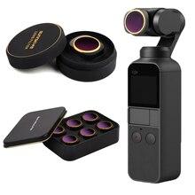 Filtro de lente de cristal óptico para DJI Osmo Pocket Vlog Filters accesorios de lente de cardán de mano, ángulo ajustable MCUV/CPL/ND/ND PL