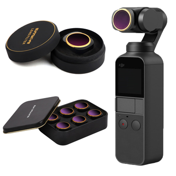 Lente In Vetro ottico Filtro per DJI Osmo Tasca Vlog Filtri Handheld Gimbal Accessori Lens MCUV/CPL/ND/ ND-PL Angolo Regolabile