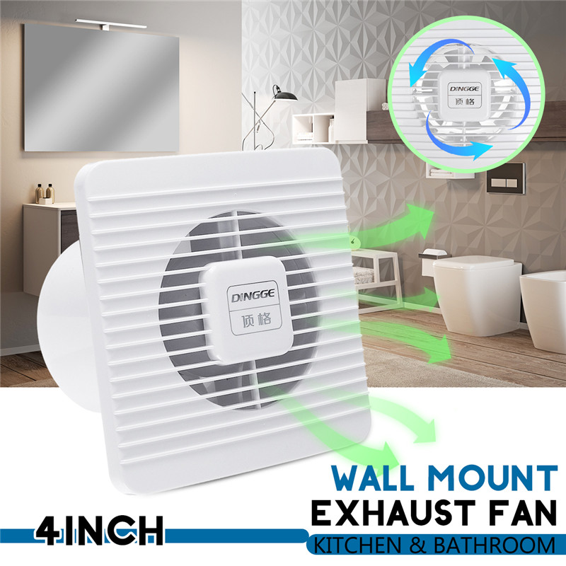 25w 4 Inch 220v High Speed Exhaust Fan Toilet Kitchen Bathroom Hanging Wall Window Glass Small Ventilator Extractor Ventilator
