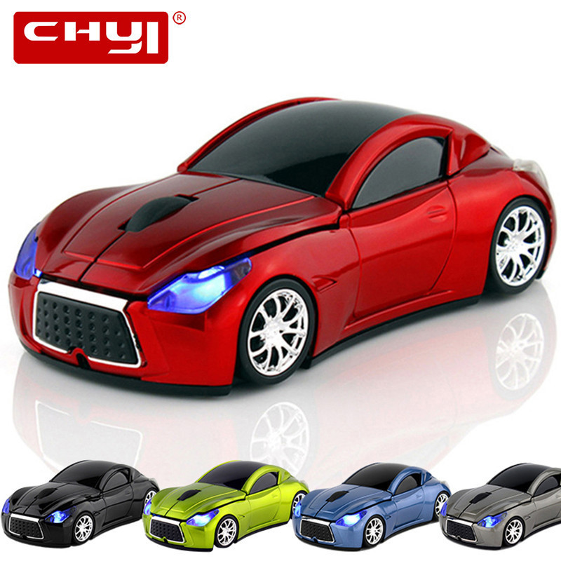 CHYI Wireless Car Mouse Infiniti Sports Car Mause 2.4Ghz 1600 DPI USB Computer Optical 3D Mice With LED Light For PC Laptop