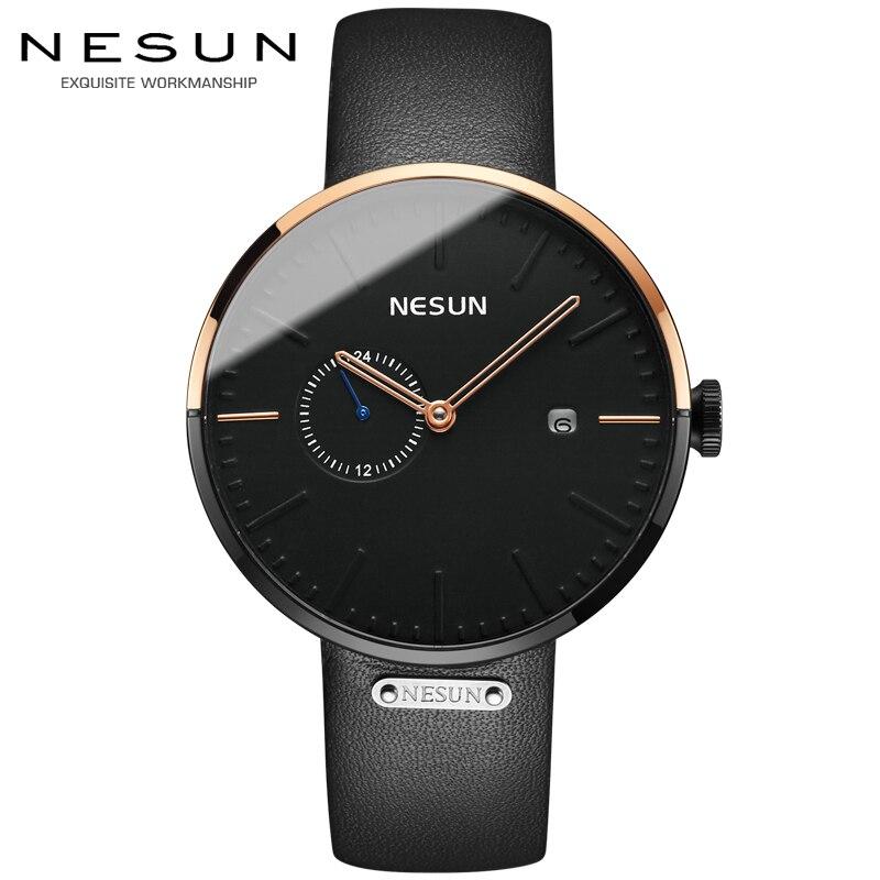 Nesun Automatische Mechanische Uhr Männer Luxus Marke männer Uhren Wasserdicht relogio masculino Sapphire Armbanduhr Männlichen N9608-in Mechanische Uhren aus Uhren bei  Gruppe 1