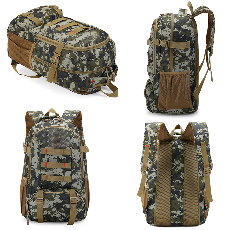 Tactical Backpack 40L 45 Camo Military Army Mochila Molle Waterproof Hiking  Hunting Backpack Tourist Rucksack Outdoor Sport Bag-in Climbing Bags from  Sports ... ccd0e1b04d0b8