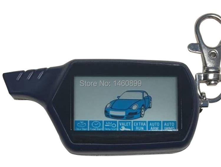 B9 10Pcs/Lot Russian LCD Auto Engine Start Remote Control For Two Way Car Alarm Starline B9 Twage Key Fob Keychain Trinket-in Burglar Alarm from Automobiles & Motorcycles    1
