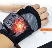Wrist Massager Muscle Joint Acupoint Treatment And Relaxation Wireless Hand Massager Vibration Physical Therapy Heating T0042CMD