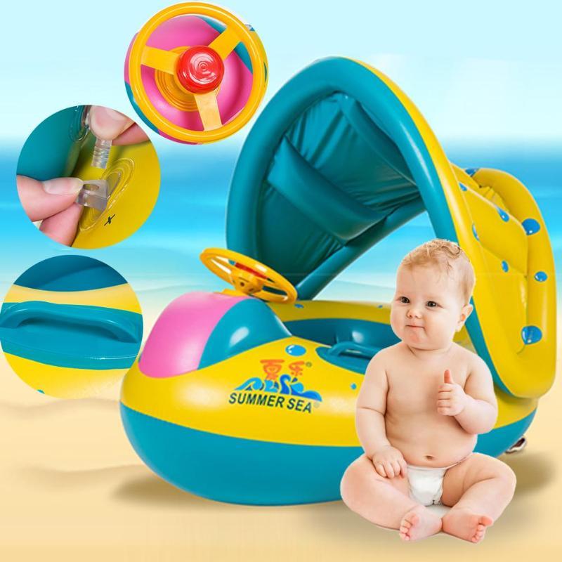 1 Pc Baby Kinder Schwimmen Pool Sommer Schwimmen Ring Aufblasbare Schwimmen Float Wasser Spaß Pool Spielzeug Schwimmen Ring Sitz Boot Wasser Sport Neueste Mode