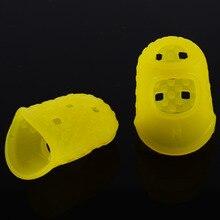 12Pcs/set Silicone Finger Guards Guitar Fingertip Protectors For Ukulele  Random Color