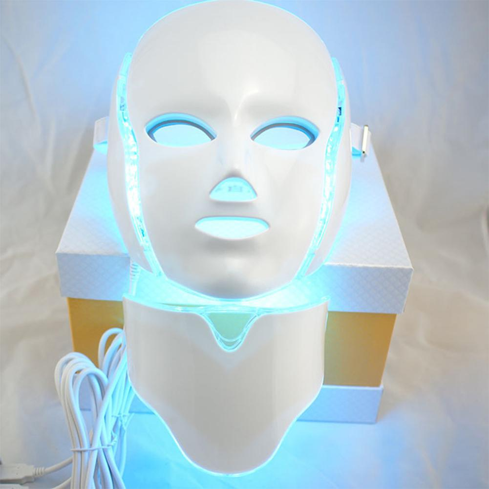 LED 7 Colors Light Photon Face Neck Mask Rejuvenation Skin Therapy Anti Wrinkles Face care tool