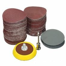 100pcs 25mm Sanding Disc Sand Paper Hook Loop Sander + 1/8 Drill Adapter Set paper drill sander 100/180/240/1500/3000 Grit