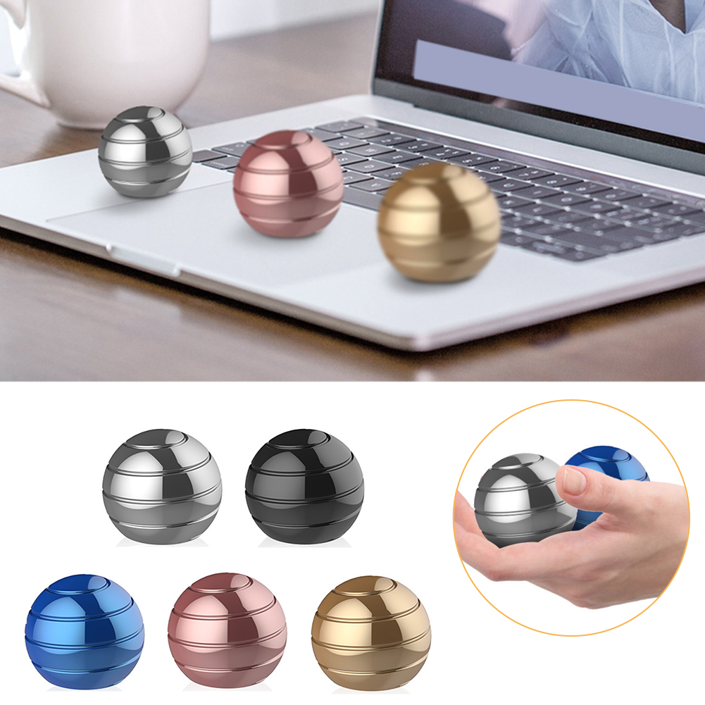 Optical Decompression Toy Spinning Tops Kinetic Finger Gyroscope Desk Ball Anti Stress Illusion Flowing Metal Kids Rotating Gyro