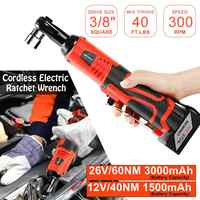 """12/26V 3/8"""" Cordless Electric Ratchet Wrench Tool Set Kit Rechargeable Lithium-Ion Battery Scaffolding Impact Wrench Power Tool"""