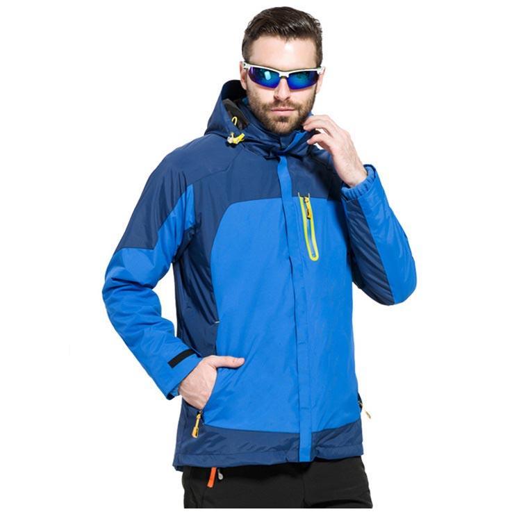 Extérieur randonnée escalade Ski vestes hommes femmes hiver imperméable polaire veste coupe-vent à capuche Sport manteaux deux pièces