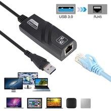 Nova chegada usb 3.0 para gigabit ethernet rj45 lan (10/100/1000) adaptador de rede mbps para pc laptop win