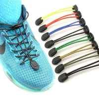 1 par elástico preguiçoso sem laço cadarços 8 cores esporte corredor sapato cadarços fácil bloqueio reflexivo unisex sapatos acessórios