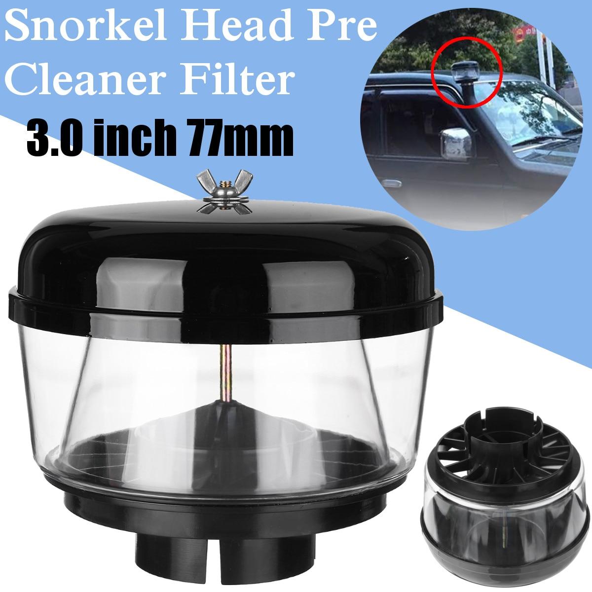 3 Pulgadas 77mm Trampa De Agua Snorkel Cabeza De Aire Ram Prelimpiador De Flujo De Aire Coche Snorkel Cabeza Snorkel Ram Copa De Arena Para Toyota Nisans