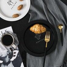Nordic круглая чаша для фруктов творческий простой Пластик Bpa посуда поднос для завтрака десерт Сухофрукты блюдо дома пластин