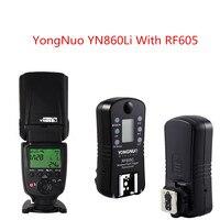 YONGNUO YN860Li Lithium Battery Manual Speedlight Flash with Yongnuo RF605 Flash Trigger Transceiver for Canon Nikon Pentax