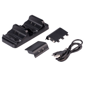 Image 4 - Für XBOX ONE/X/Schlank spiel controller dual ladestation gamepad schnelle ladegerät plus 2 akku pack mit USB kabel