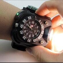 Яркий тактический фонарик с компасом для занятий спортом на открытом воздухе Водонепроницаемая