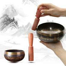 Tibetan Singing Bowl Decorative-wall-dishes Home Decoration Bowls Decorative Sacrifice Sacred Dharma Monks Lama Religion Carft(China)