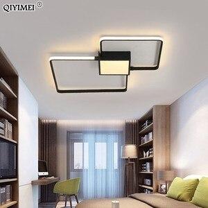 Image 4 - Modern LED avizeler işık lamba oturma odası aydınlatma üç kare yatak odası mutfak yüzey montaj kısılabilir uzaktan kumanda ile