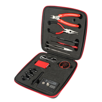 All in One DIY Coil Father V2 Kit Electronic Cigarette Of Vape Ceramic Tweezers Heat Wire Pliers Tool Bag 521 Mini Tab Scissors