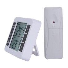 1 шт. ЖК-дисплей цифровой беспроводной морозильник термометр Открытый температурный монитор с дистанционным датчиком